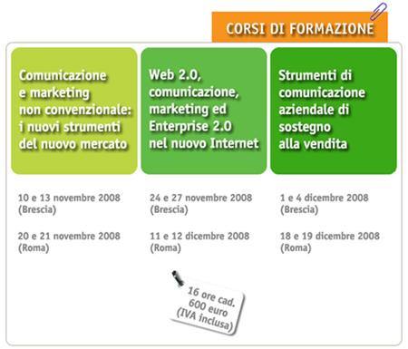Communication Village - Corsi di formazione (marketing e comunicazione) novembre/dicembre 2008
